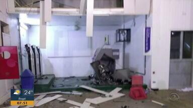 Caixas eletrônicos são explodidos em Serafina Corrêa - Ainda há chances de ter novas explosões.