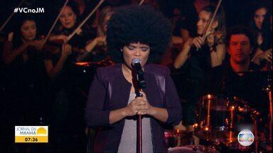 The Voice Brasil: cantora de Valença participa da semifinal do programa - Ela é a única representante da Bahia e se apresenta nesta terça-feira(04).