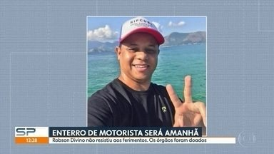 Enterro do motorista espancado em São Bernardo será nesta quarta-feira (2) - Robson Divino não resistiu aos ferimentos. Os órgãos foram doados.