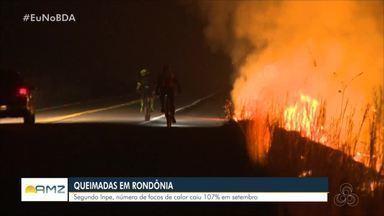 Número de queimadas diminuiu em Rondônia, segundo o Inpe - Número reduziu 107% no mês de setembro
