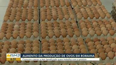 Consumo de ovos aumenta em Roraima - Benefícios do alimento tem gerado grande procura nos mercados da capital.