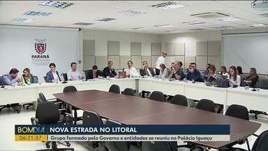 Faixa de infraestrutura é discutida em reunião no Palácio Iguaçu - Membros do governo e de entidades ambientais se encontraram para debater a construção da nova estrada do litoral.