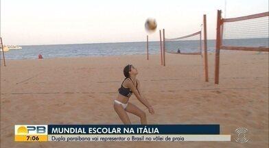 Dupla paraibana se prepara para representar o Brasil no Mundial Escolar; veja - Competição será realizada na Itália e terá representantes de todos os continentes