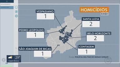 Mapa registra violência na Região Metropolitana de Belo Horizonte - Pelo menos oito pessoas foram assassinadas nas últimas 12 horas