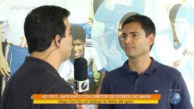 GE conversa ao vivo com o diretor de futebol do Bahia, Diego Cerri - Ele fez um balanço da participação no time até o momento.