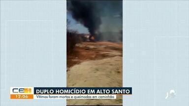 Vítimas são mortas e queimadas em Alto Santo - Saiba mais no g1.com.br/ce