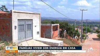 Família vivem sem energia em casa e cobram promessa da Enel - Saiba mais no g1.com.br/ce