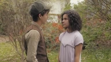 Carlos se encontra com Inês - Eles conversam e ele confessa que tem o sonho de ser médico