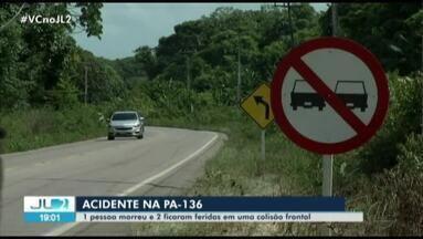 Corpo de vítima de acidente na PA-136 é liberado do IML de Castanhal, no PA - Júnior Miranda da Silva morreu em acidente na rodovia que liga Castanhal a Curuçá, no nordeste do estado.