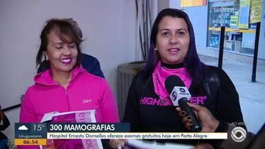 Hospital Ernesto Dornelles oferece gratuitamente exames de mamografia - São 300 exames disponíveis e ação faz parte de campanha contra o câncer de mama.