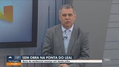 Obras para conter avanço do mar na Ponta do Leal em Florianópolis não começaram - Obras para conter avanço do mar na Ponta do Leal em Florianópolis não começaram