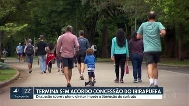 Termina sem acordo audiência que discutia a concessão do Parque Ibirapuera - A discussão sobre o plano diretor impede a liberação da assinatura do contrato com a empresa vencedora. A decisão vai ser da Justiça.