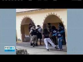 PM é flagrado abordando estudante de forma violenta - Caso aconteceu em Almenara.