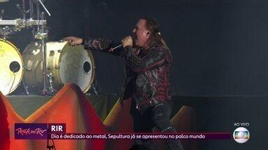 Helloween retorna ao Rock in Rio e agita o Palco Mundo - Banda de heavy metal já havia se apresentado na edição de 2013 do evento, no Palco Sunset. Também se apresentou nesta sexta (4) a banda Sepultura.