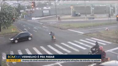 Aumento de avanço de sinal preocupa especialista de trânsito - Em Londrina é grande o número de casos.