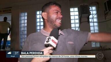 Em menos de 24 horas, 6 pessoas são atingidas por bala perdida no Rio - Entre as vítimas estão duas crianças, um adolescente e duas mulheres. A sexta vítima foi um homem que não resistiu ao ferimento e faleceu.