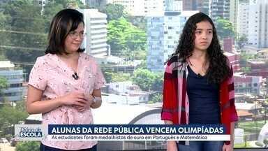 """Alunas da rede pública vencem Olimpíadas de Português e Matemática em SP - Acompanhe a série """"Diário de Escola"""""""