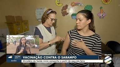Na próxima segunda-feira começa nova campanha de vacinação contra o sarampo - Campanha vai até 25 de outubro.