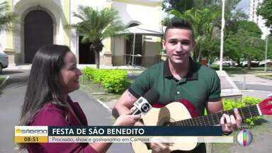 Festa de São Benedito tem procissão, shows e gastronomia em Campos - Evento é realizado neste fim de semana.