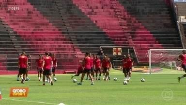 Sport volta a treinar no Recife com foco no CRB, jogo desta segunda-feira - Leão trabalhou esta manhã na Ilha do Retiro