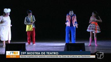 29ª amostra de teatro reúne vários espetáculos na Casa da Cultura em Santarém - Programação segue até o dia 10 de outubro.