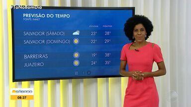 Confira a previsão do tempo para Salvador e interior do estado neste fim de semana - Previsão de dia ensolarado em Salvador neste sábado (5).