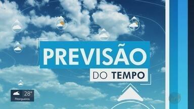 Confira a previsão do tempo para o domingo (6) na região de Ribeirão Preto - Frente fria deve derrubar temperatura no final do dia.