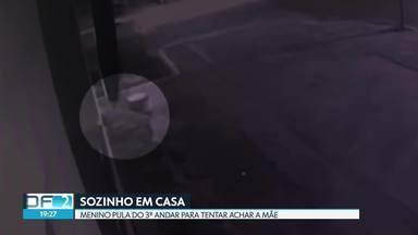 Criança sozinha em casa pula do terceiro andar para tentar achar a mãe - Caso foi no Paranoá Parque. Polícia investiga.