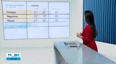 Confira a previsão do tempo para as cidades do interior do Rio - Assista a seguir.