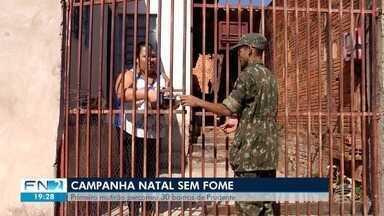 Campanha realiza mutirão para arrecadar alimentos em Presidente Prudente - Voluntários percorreram bairros da cidade neste sábado (5).