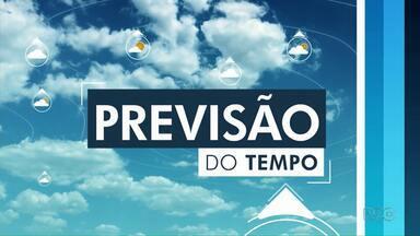 Chuva prevista para a região dos Campos Gerais no domingo (6) - Temperatura cai em Ponta Grossa.