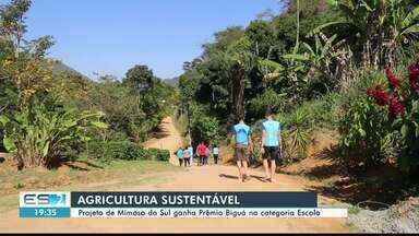 Prêmio Biguá: comunidade e alunos de escola se únem para agricultura sustentável no ES - Eles venceram na categoria escola.