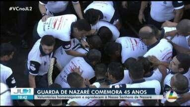 Guardas que protegem imagem de Nsa Sra de Nazaré viram patrimônio do Pará - Para quem faz parte do grupo, estar perto da Mãe de Jesus tem significado especial.