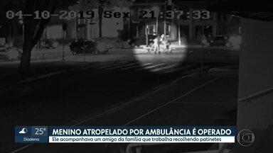 Menino atropelado por ambulância em São Paulo é operado - Ele acompanhava um amigo da família trabalha recolhendo patinetes.