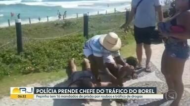 Polícia prende chefe do tráfico do morro do Borel - Peterson Fonseca de Souza foi preso na praia da Barra