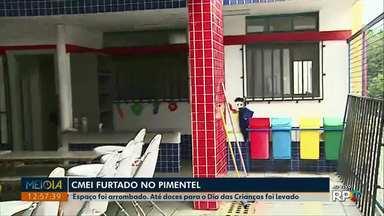 Cmei é furtado no núcleo Pimentel em Ponta Grossa - Vândalos arrancaram uma grade de proteção da janela e furtaram até doces que eram guardados para o Dia das Crianças.