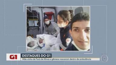 G1 no BDMG: Mulher dá à luz gêmeos dentro de ambulância do Samu, em BH - Segundo equipe, casal de bebês nasceu prematuro, mas bem.