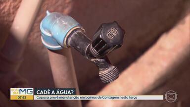 Copasa corta água em mais de 40 bairros de BH e Região Metropolitana - Interrupção de abastecimento de água acontece nesta terça e quinta-feira em bairros de Juatuba, Mateus Leme, Contagem e Belo Horizonte.