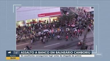 Agência bancária de Balneário Camboriú é alvo de criminosos - Agência bancária de Balneário Camboriú é alvo de criminosos
