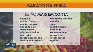 Confira preços de frutas, verduras e legumes nas feiras de Ribeirão Preto - Melancia, beterraba, mamão formosa e papaia estão mais baratos.