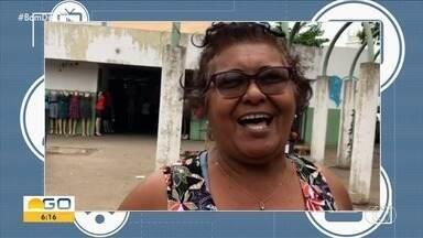 Telespectadora chama o intervalo do Bom Dia Goiás - Veja.