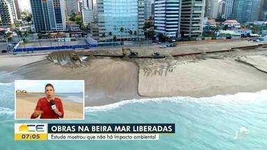 Estudo de impacto ambiental libera obras na Beira-Mar de Fortaleza - Saiba mais em g1.com.br/ce