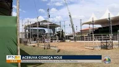 Programação da Aceruva espera atrair público de 30 mil pessoas - Festa começa nesta quarta-feira (9), em Junqueirópolis.