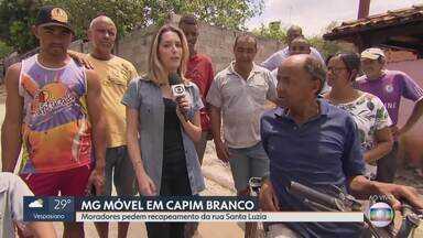 MG Móvel volta à Capim Branco para ver obra pronta - Moradores da rua Santa Luzia pediram recapeamento do asfalto e a obra foi feita pela prefeitura.