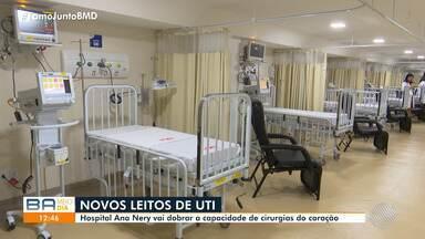 Hospital Ana Nery inaugura 15 novos leitos de UTI infantil nesta quarta-feira - Com nova estrutura, a unidade vai dobrar a capacidade de cirurgias no coração, reduzindo o tempo d espera na fila.