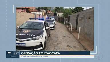 Operação contra o tráfico de drogas prende seis pessoas em Itaocara - Segundo a Polícia Civil, o chefe do tráfico do Morro Bela Vista foi um dos presos na ação.