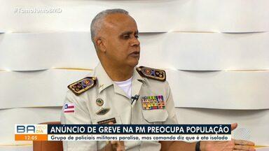 Comandante geral da PM fala sobre anúncio de paralisação de agentes - Viaturas e guarnições da Polícia Militar são vistos em diversos pontos de Salvador.