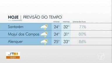 Confira a previsão do tempo para Santarém e região - Saiba como fica o clima nos próximos dias.