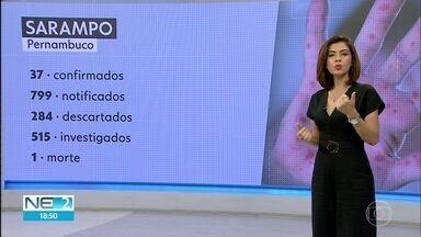 Aumenta o número de casos confirmados de sarampo em Pernambuco - Segundo a Secretaria de Saúde, são, agora, 37 casos, contra 23 do boletim anterior