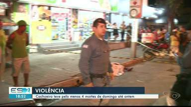 Cachoeiro de Itapemirim registra quatro assassinatos em três dias, no Sul do ES - Polícia diz que está investigando os crimes.